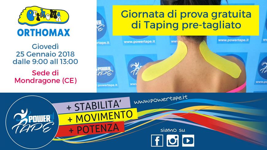 Giornata gratuita prova Taping pre-tagliato c\o sede Mondragone.